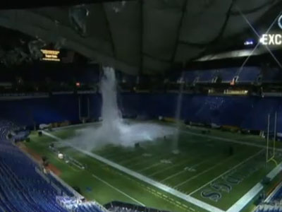 Minnesota Vikings - Metrodome Roof Collapse HQ! - YouTube