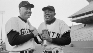 The Duke with Willie Mays