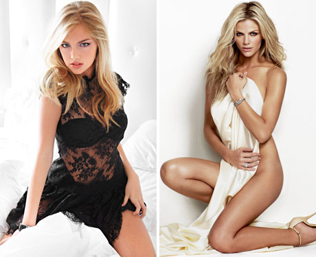 Kate Upton on the left and Brooklyn Decker on the right