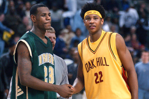 Carmelo and LeBron have been friends since high school.