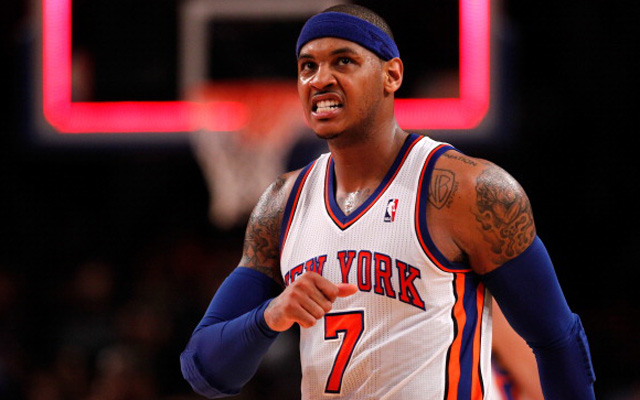 Carmelo Anthony may take a while to find his game after knee surgery.